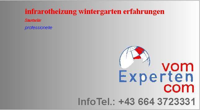Erfahrung Infrarotheizung infrarotheizung wintergarten erfahrungen obi vom experten com