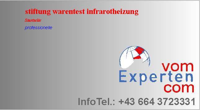 Professionelle Stiftung Warentest Infrarotheizung